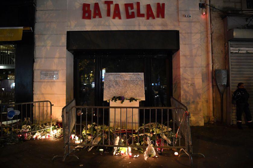 L'entrée du Bataclan à Paris le 13 novembre 2017, deux ans après l'attentat jihadiste
