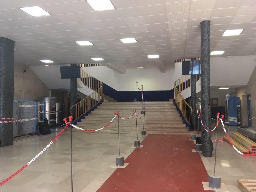 L'escalier par lequel on accédera à la terrasse