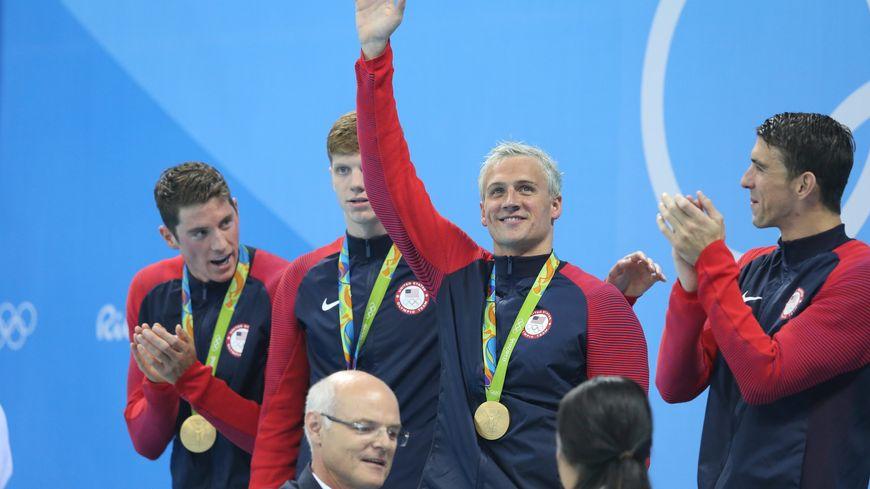 Ryan Lochte, médaillé d'or aux Jeux Olympiques de Rio en 2016.