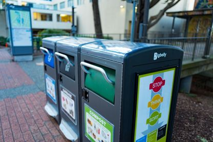 Compacteurs de déchets solaires San Francisco, Californie, le 5 janvier 2017.