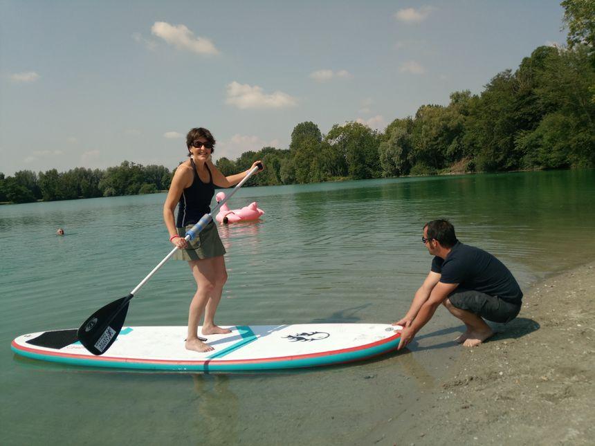 Caroline Paul s'est elle aussi essayée au paddle !