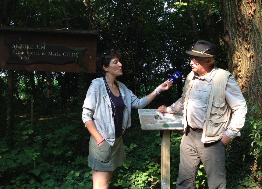 Caroline Paul et Pierre Hieber, guide nature et président de l'association Nature Ried Erstein