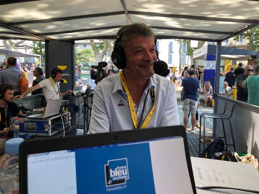 Bernard Thevenet, au micro de France Bleu Occitanie ce mardi.