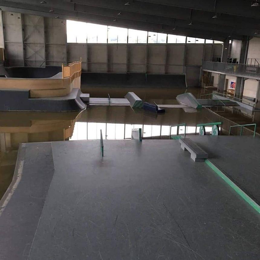 Le nouveau skatepark de Biarritz aussi a pris l'eau
