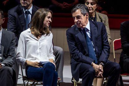 Grand rassemblement autour de François Fillon au Cirque d'Hiver à l'occasion de l'ouverture officielle de la campagne de la primaire de la droite et du centre avec Madeleine De Jessey (Porte parole de sens commun)  le 21 Septembre 2016