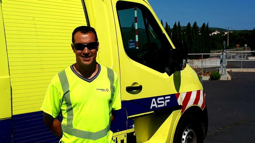 Benoit Ramel, 41 ans, patrouilleur sur l'A9 depuis 20 ans