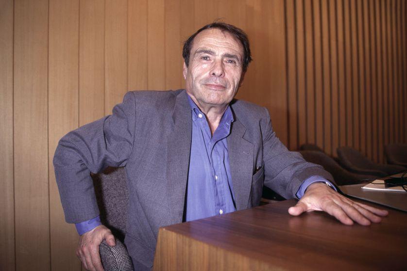 Pierre Bourdieu à l'UNESCO le 21 novembre 1994 à Paris, France.