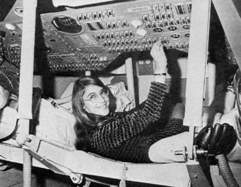 Margaret Hamilton durant le programme Apollo.