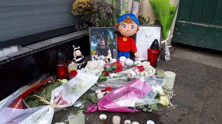 Le mémorial improvisé pour Dorian Guémené
