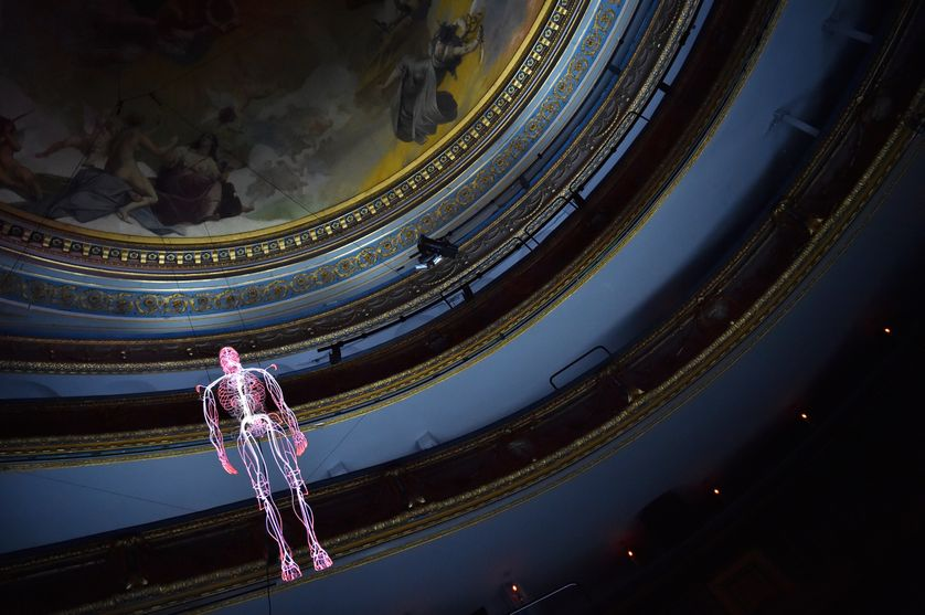 """""""Inside"""" de Daniel Firman, à l'Opéra Graslin, à Nantes, dans le cadre du Voyage à Nantes"""