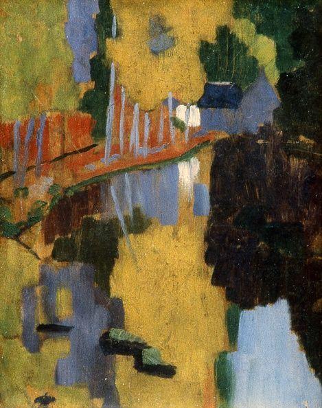 Paul Sérusier (1864-1927) Le Talisman, l'Aven au Bois d'Amour Octobre 1888 Huile sur bois H. 27 ; L. 21 cm