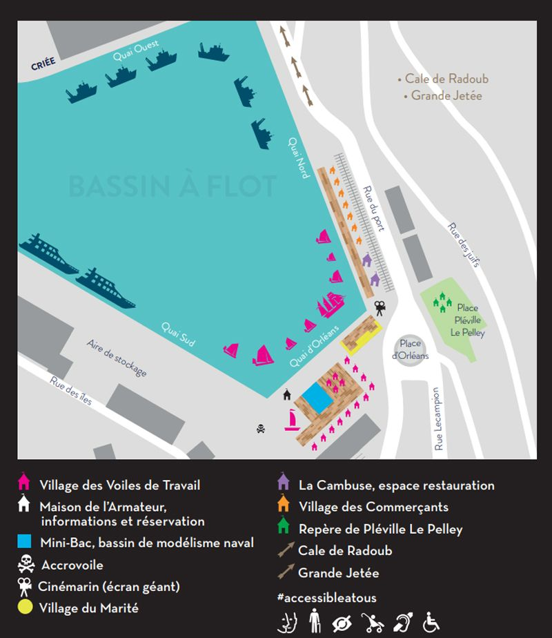 Le plan du festival Voiles de Travail 2018