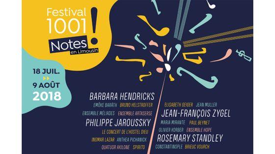 Festival 1001 Notes en Limousin - du 18 juillet au 9 août