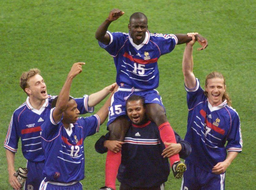 Lilian Thuram, Bernard Lama, Stephane Guivarc'h, Thierry Henry, and Emmanuel Petit : les Bleus en 1998