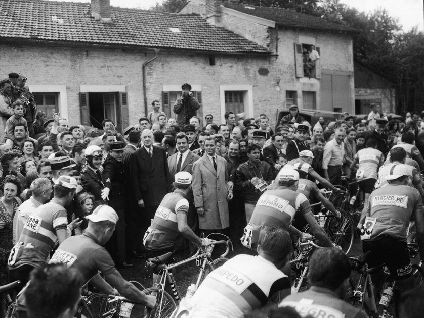 Charles de Gaulle lors du Tour de France 1960