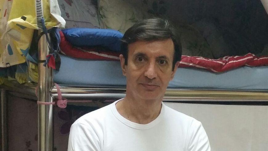 Jean-Pierre Marongiu dans sa cellule au Qatar en avril 2017