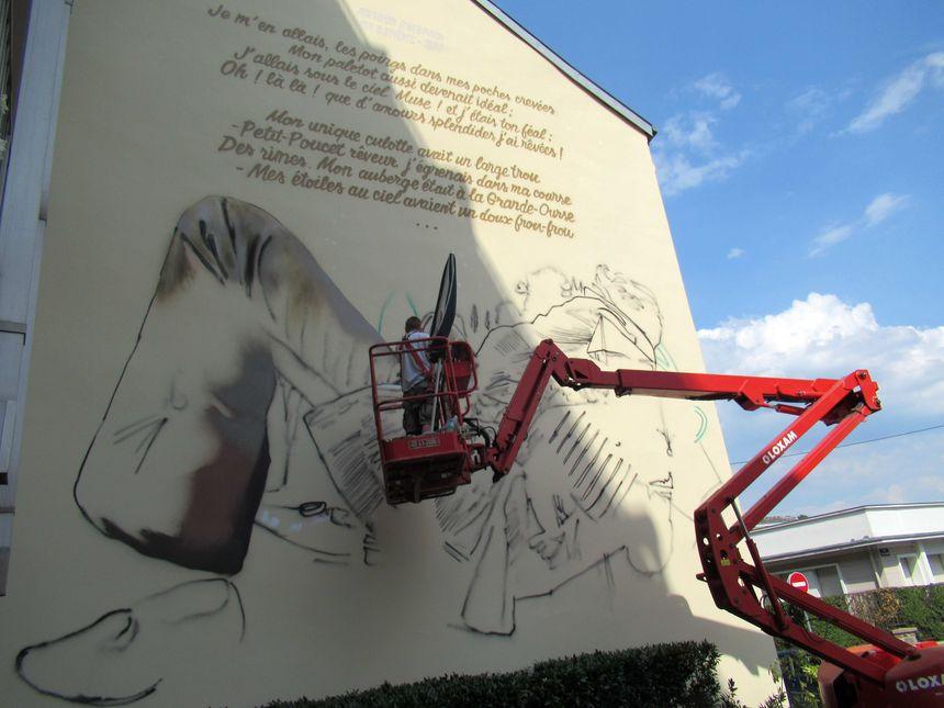 La troisième fresque du parcours Rimbaud doit être terminée fin juillet