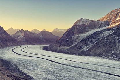 Chaque année, le glacier Aletsch perd jusqu'à cinquante centimètres de longueur.