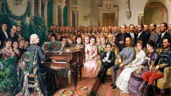 Franz Liszt jouant du piano à Vienne