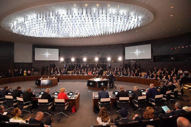 Réunion du sommet de l'Otan à Bruxelles le 11 juillet 2018