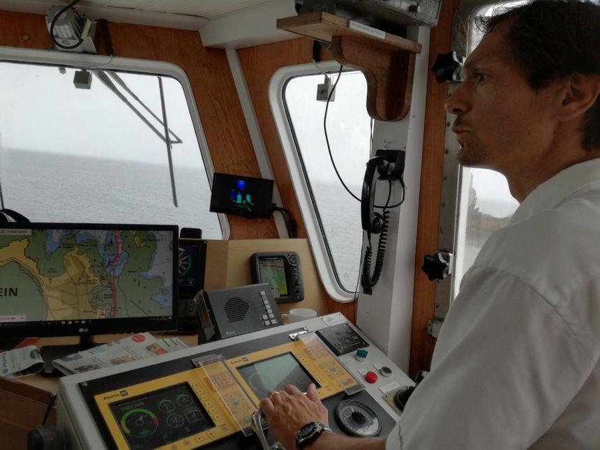 Damien Decré, le capitaine d'Enez Sun III.