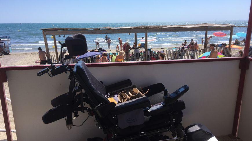 Une plage spécialement aménagée pour les handicapés