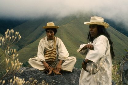 Deux prêtres Kogi (Colombie)