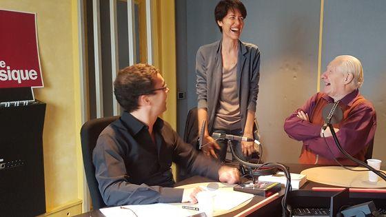 Lionel Esparza, Delphine Baudet (technicienne) et Alain Badiou
