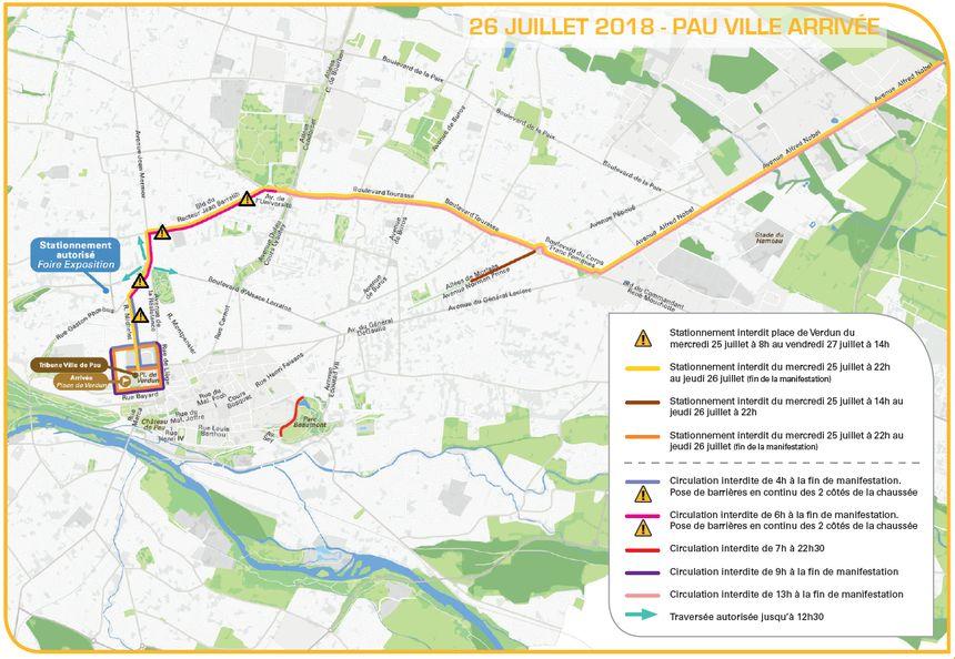 Le stationnement à Pau le 26 juillet