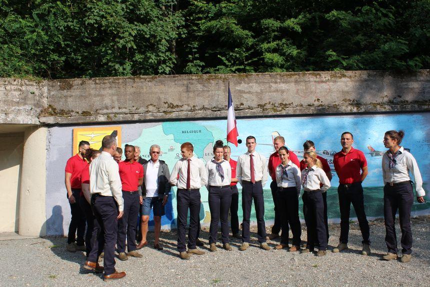 Les jeunes volontaires ont remis à neuf le fort de l'OTAN au Salbert