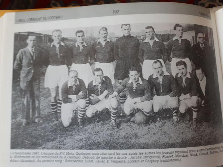 L'équipe du FV Metz en 1941