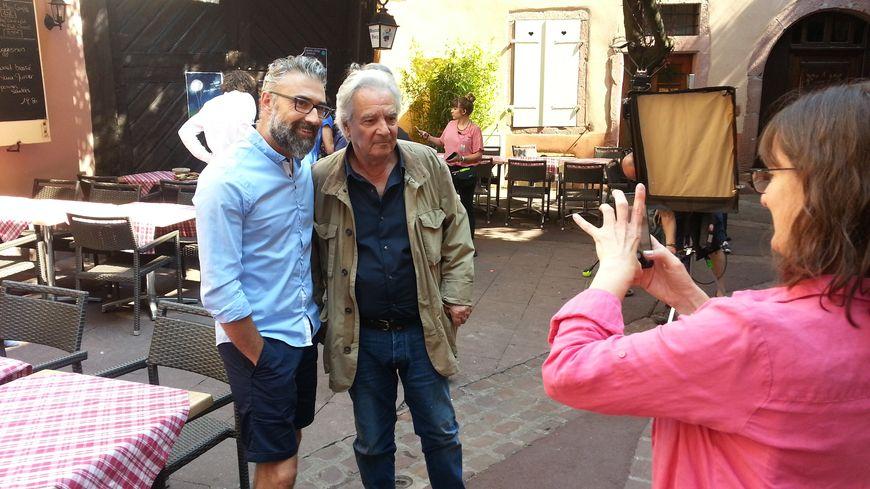 Pierre Arditi prend la pose pour les photos