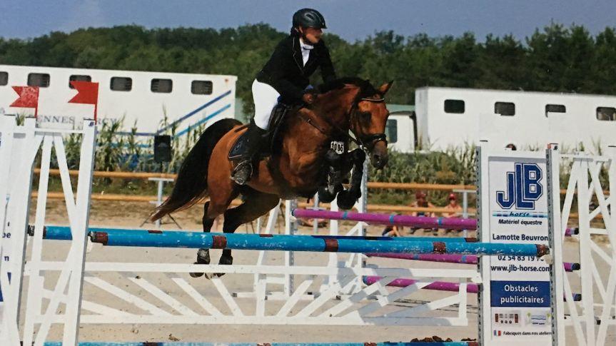 Mathilde Godfrin, championne de France d'équitation