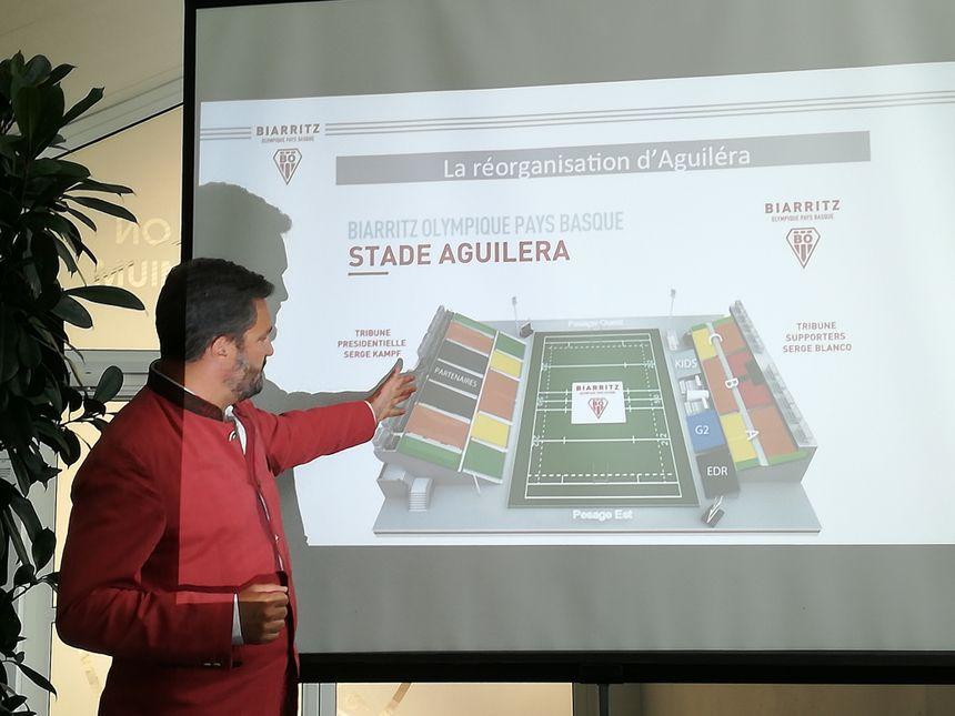 Louis-Vincent Gave présente le projet de réorganisation du stade Aguiléra