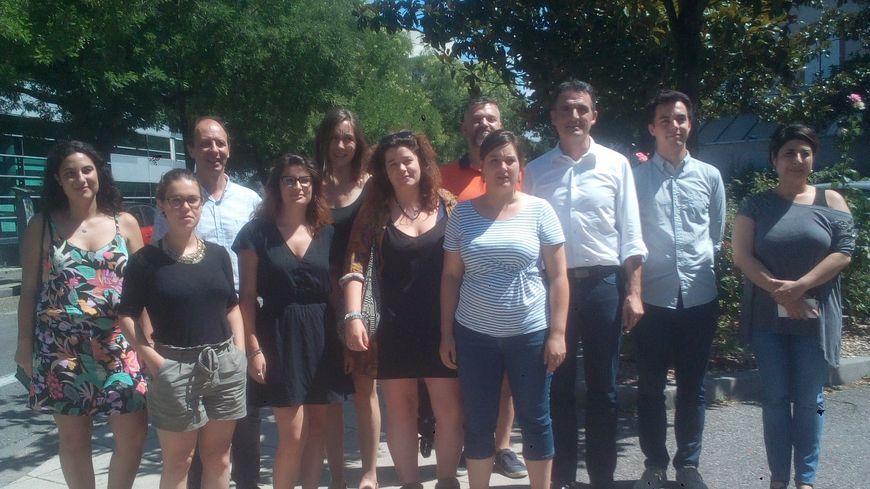 L'équipe juridique mobile autour d'Eric Piolle, maire de Grenoble.