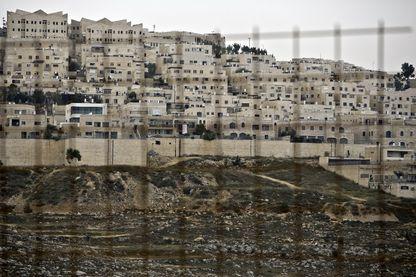Vue de Ramat Shlomo, quartier juif de Jérusalem Est en plein territoire Palestinien