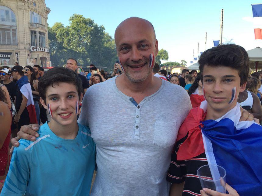 Un père lunellois partage cette victoire avec ces deux fils qui n'ont pas connu 1998.