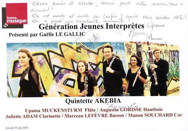 Livre d'or Quintette Akebia