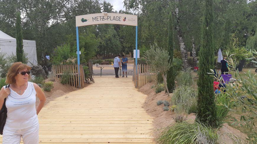 Il faisait un peu gris pour l'ouverture de Metz plage mais les visiteurs ont tout de même tenu à faire le déplacement.