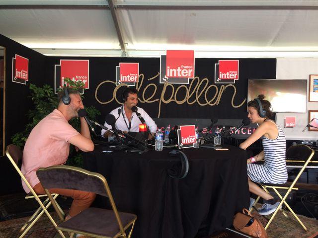 Pierre Lapointe et Pomme dans le studio du Club estival aux Francofolies de la Rochelle en compagnie d'Emmanuel Khérad