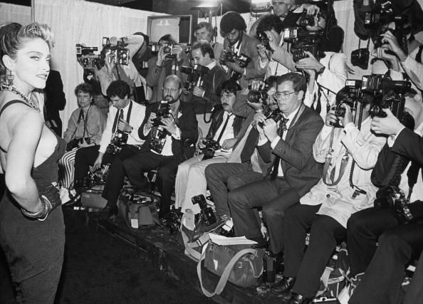 Madonna à la conférence de presse  des MTV Video Awards 1984 à Los Angeles