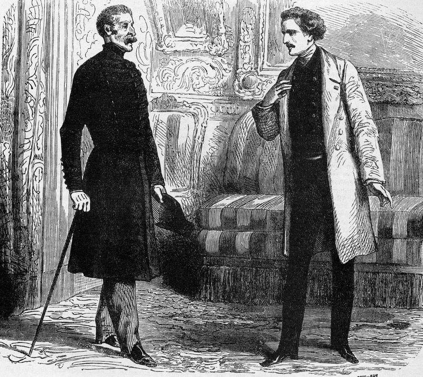 """Monsieur de Villefort enquêtant sur Monte-Cristo chez """"Lord Wilmore"""""""