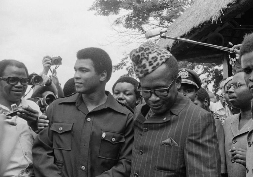 Mohamed Ali avec Joseph Mobutu