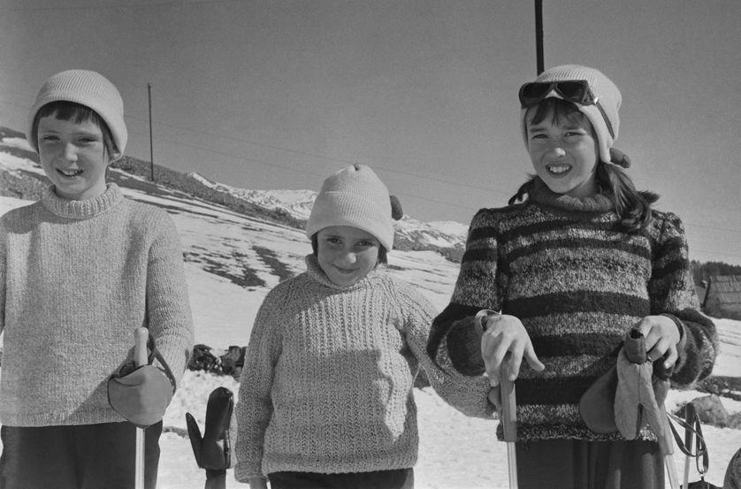 Enfants en classe de neige en 1967