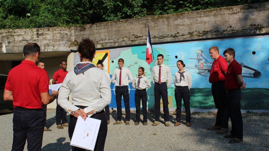 Sept jeunes de l'Epide de Belfort ont participé au chantier sur le fort de l'OTAN