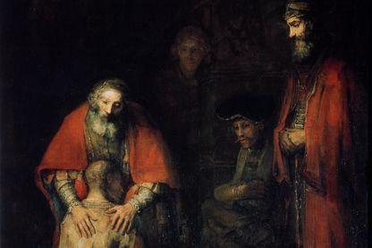 """""""Le retour du fils prodigue"""", c1668. Rembrandt van Rhijn (1606-1669). Trouvé dans la collection de l'Ermitage d'État, Saint-Saint-Pétersbourg."""