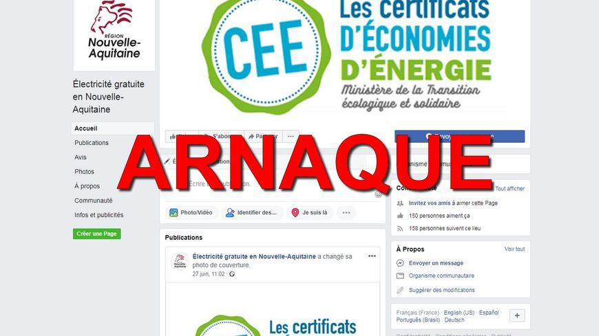Une page Facebook se fait passer pour un site certifié de la Région.