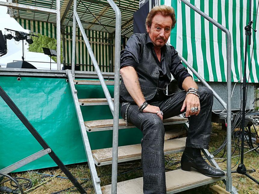 Johnny Rock alias Denis Le Men, 63 ans, vit dans la peau de son idole depuis 35 ans.