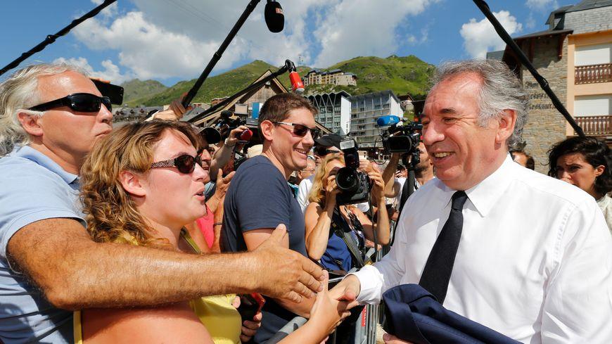 François Bayrou, le maire de Pau, au Pic du Midi ce jeudi.