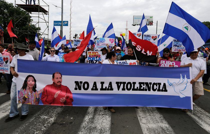 Des manifestants nicaraguayens défilent contre la violence, le 7 juillet 2018